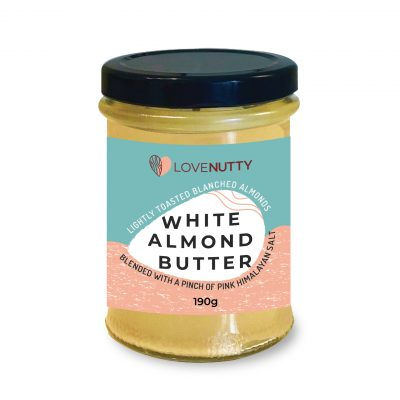 Jar of Lovenutty White Almond Butter